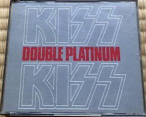 KISS-Double Platinum-P58C-Japan Double CD-1st Press-Polystar-Casablanca-Rare