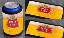 Personalised CAN COOLER Beer Design Stubby Cooler Bottle Holder BBQ Drinks