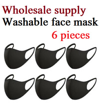 6 Pack - Black Face Mask, Free shipping from Nyc, Reusable and washable