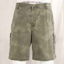 VTG Camouflage 42 Cargo Shorts Green Brown Army Camo Long Board Side Leg Pockets