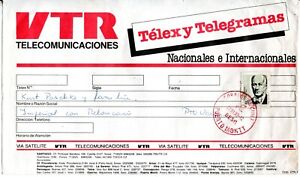 CHILE, SOBRE VTR, TELEX Y TELEGRAMAS, ORIGEN PUERTO MONTT DESTINO PUERTO VARAS
