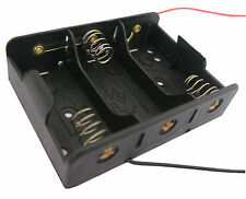 1PC 3 x C Size Cell Battery Batteries Holder Box 4.5V Case With Wire Lead New