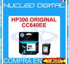 1 ORIGINAL HP300 CC640EE  Cartucho tinta NEGRO HP 300