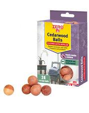 New STV Zero In Red Cedar Wood Moth Balls Repels Moths PK 24 ZER031