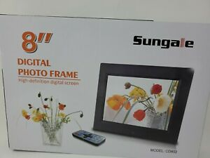"""Sungale 8"""" Digital Photo Frame with Remote Model #CD802"""