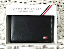 Men's Leather Wallet 'Tommy Hilfiger' Bifold, BLACK, Coin Pouch, MRP $60.00,SALE