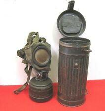 Original German WWII 1942 M42 Gasmask Container, Gasmask With Canister & Filter