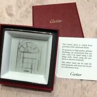 Authentic Cartier Novelty Porcelain Decorative Tray 8 x 8cm  New in Box