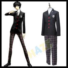 Persona 5 P5 Joker Akira Kurusu Cosplay Costume School Uniform Outfit Suit CCC