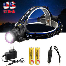 Rechargeable 10000LM XML T6 LED Head Light Headlight Lamp 2X18650+AC/Car Charger