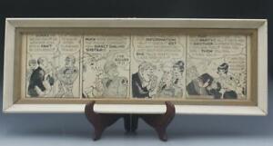 Signed Al Capp Original Comic Strip Illustration Drawing Pen & Ink Framed