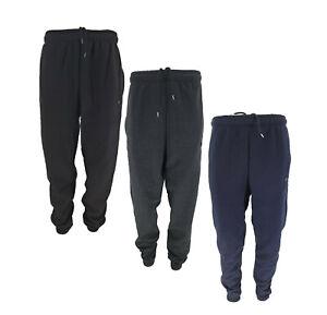 Men's TiM Relaxed Fit Heavy Fleece Jogging Bottom Cuffed Gym Sweat Jogger Pants