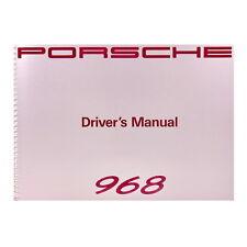 PORSCHE 968 Driver's Manual - Betriebsanleitung, Englisch, MJ 92, Ausgabe 1991