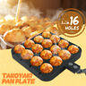 16 Holes Takoyaki Pan Plate Tray Kitchen Cooking Baking Mold Octopus Ball Maker