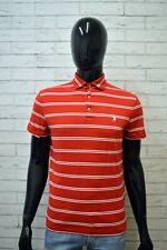 Polo a Righe Uomo RALPH LAUREN Taglia S Maglia Manica Corta Shirt Chemise Homme