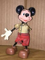 "VINTAGE 5 1/8"" TALL MICKEY MOUSE MARX TOYS-MADE IN HONG KONG Twistable Flexible"