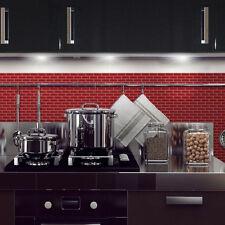 6-Pack DIY Peel-n-Stick Self Adhesive Mosaic Kitchen Wall Tile Backsplash in Red