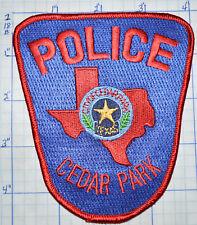 TEXAS, CEDAR PARK POLICE DEPT PATCH