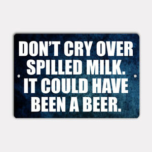 """BEER HUMOR  8"""" x 12"""" Aluminum Sign UV Protection"""