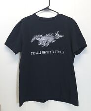 Ford Mustang LARGE T Shirt Tee Black Horse Logo Car Spelled Out 42 44 Cotton