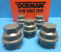5 Wheel Lug Nut Cover Replace GM OEM # 9593229 & 9595118 Grey