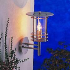 Nartel Mains Outdoor Flair Wall Lantern Light 28126 Stainless Steel Ip24 Modern