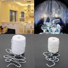 99FT/30m Acrylic Crystal Bead Garland Diamond Strand Curtain Christmas Decor