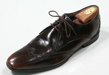 OLIVER SWEENEY Brown Buxhall Lace up Wingtip Patent Brogue Derby Shoes 11.5