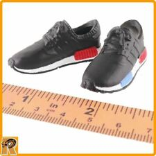 Running Sneakers - Black Shoes for Feet - 1/6 Scale Zy Toys Action Figures