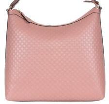 NEW Gucci 449732 Soft Pink Micro GG Guccissima Leather Purse Hobo Handbag
