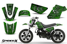 YAMAHA PW50 CREATORX GRAPHICS KIT DECALS SPIDERX GREEN
