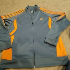 Mens Adidas Grey Zipper Clima 365 Jacket Size XL