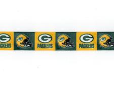 "Green Bay Packers 5/8"" Grosgrain Ribbon 1,3,5,10 Yards Football Ship From Usa"