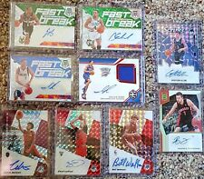 2019-2020 Mosaic Prizm 9 Card Autographed Lot Edwards, Roby, Lavine, Bill Walton