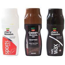 Cherry Blossom Shoe Shine Polish Ready Wax Liquid Black/Brown/White 85ml