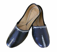 Women Shoes Indian Handmade Leather Ballerinas Jutties Black UK 4.5 EU 37.5