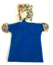 Vintage Steiff  Leopard Cat Hand Puppet  with Metal Ear Button