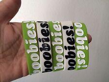 NEW I Love Boobies, Keep A Breast Bracelet lot of 2 color 5 Bracelet