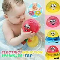 Electric Induction Spray Ball Light Bathroom Infant Boys Water Bath Playing Toys