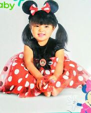 Red Minnie Mouse Disney Baby Infant Costume polkadot Dress up  6 to 12 months