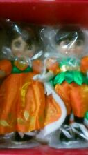 Disney Marie Osmond Mickey & Minnie Adora Beau & Belle Pumpkin Dolls NRFB RARE