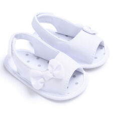 US Bowknot Newborn Girl Toddler Baby Soft Sole Shoes Crib Prewalker Shoes 12