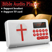 Rechargeable Portable Bible Player Audio Speaker Talking FM Radio