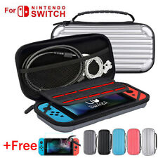 For Nintendo Switch EVA Hard Travel Carrying Case Storage Bag&Temper Glass Film