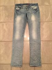 Guess Starlet Skinny Jeans Femmes Stretch Bleu FACON aspect Use W 25 L 30 XS