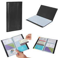 Portable Leather 120Slot Business Name ID Credit Card Holder Book Case Organizer