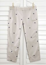 J.CREW NWT $79 Scout Chino Khaki Pants in Embroidered Starburst Size 4