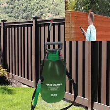 NEW 5 LITRE FENCE SHED DECKING PORTABLE 5L PRESSURE SPRAYER PUMP WOOD TREATMENT