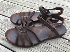 Teva Brown Leather Open Toe Hiking Outdoor Sports Sandals Flats Size 9 Women's