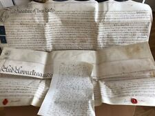 Vellum deed, 1784 for CHARD in Somerset, very large two pages signed with smalle